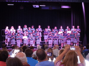 The Third Graders sent everyone off with a beautiful Irish Blessing