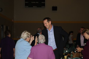 Sister Mary gives Jeff Hornacek the THUMBS UP!