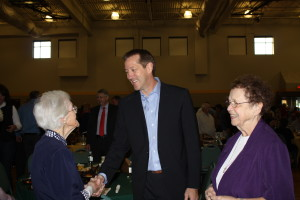 Jeff Hornacek with Sister Teresita and Sister Mary Thomas