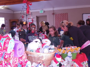 Students shopping for their families at our St. Nick's Workshop