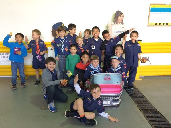 Cub Scouts at the Pinewood Derby Pass the Car!!