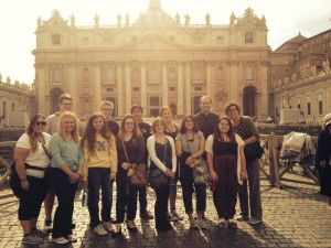 Our pilgrims in Rome. May God bless them!