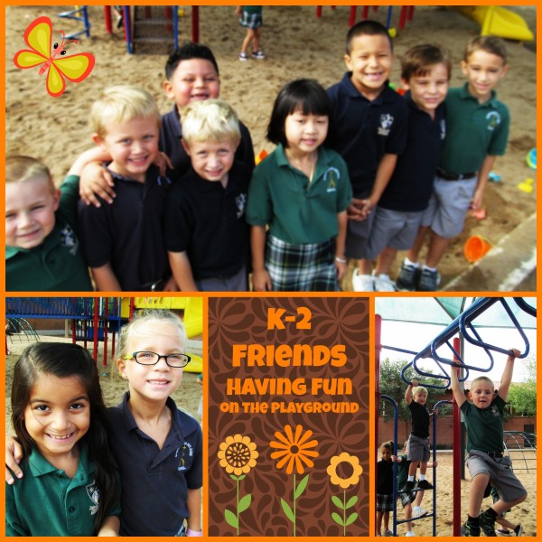 k2 friends having fun on the playground