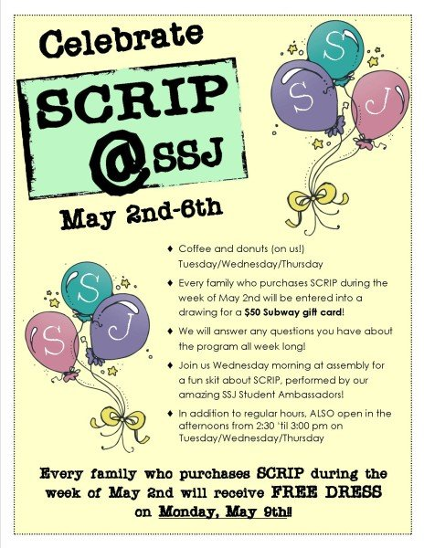 2016 SCRIP week flyer