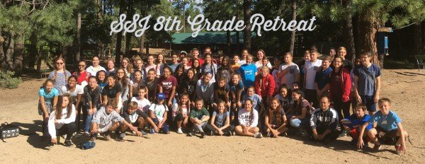 8th grade retreat group shot