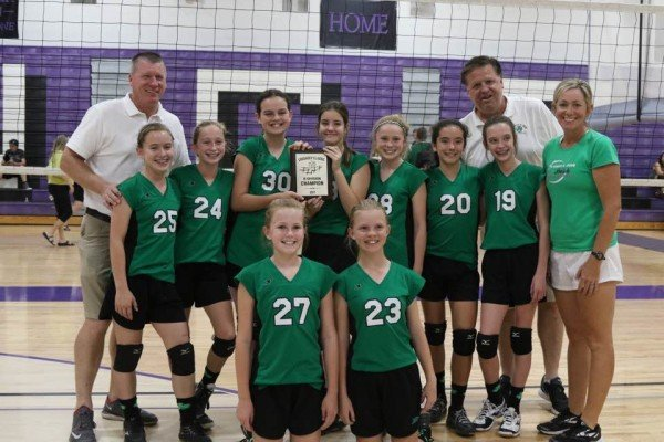 7th grade volleyball Champions!