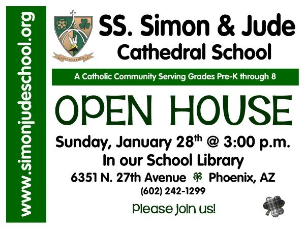 Open House Ad for the Bulletin and SchoolSpeak
