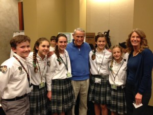 finals with Astronaut Dr  Ed Gibson